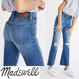 MADEWELL Retro Crop Bootcut Ripped Knees Jeans